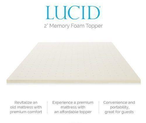 Lucid Linenspa Memory Foam Mattress Topper Reviews