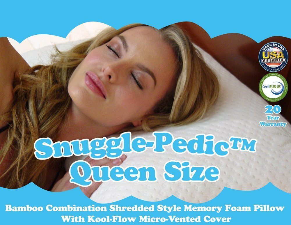 Snuggle Pedic Bamboo Shredded Queen Memory Foam Pillow Reviews
