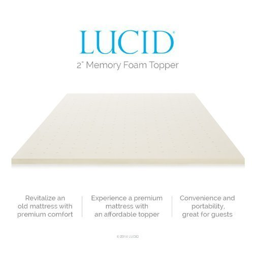 Lucid Linenspa Memory Foam Mattress Topper Reviews
